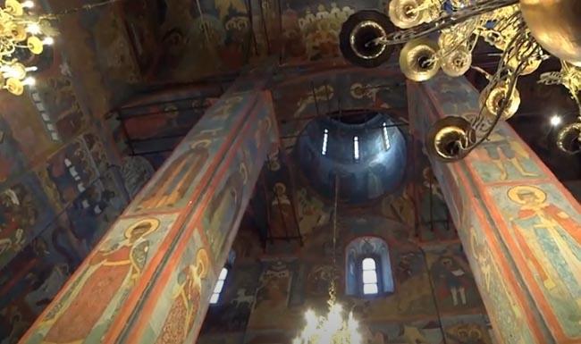 Архангельский собор внутри, роспись