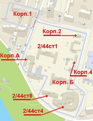 Клиническая больница 67 схема корпусов
